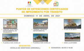 El TED Chuquisaca habilita seis puntos de información electoral en Sucre