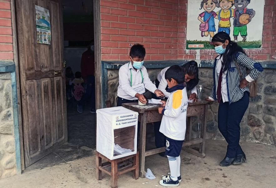 Elecciones estudiantiles en Coripata