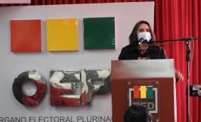 Autoridades del TSE y del TED Oruro invitan a organizaciones políticas a inscribir mujeres en candidaturas ejecutivas