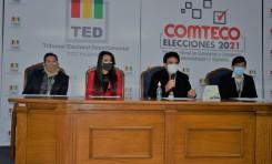 El TED Cochabamba reanuda actividades del calendario electoral para las elecciones de Comteco
