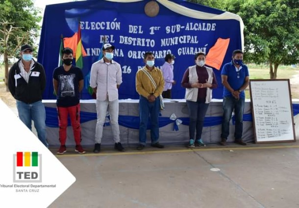 TED Santa Cruz supervisa la primera elección del Subalcalde del Distrito Municipal Indígena Guaraní 16 de Marzo