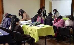 Mediante simulacros, mujeres asambleístas del departamento de Potosí identifican formas de violencia política