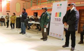 El TED Oruro supervisará elecciones de la Cooperativa de Electrificación Rural Paria R.L.