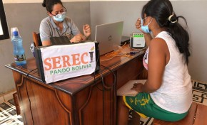 Serecí Pando llega al municipio de Santos Mercado para sanear documentos y emitir certificados de nacimiento gratuitos