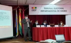Autoridades del TED Oruro informan acerca del segundo proceso electoral en la historia de los Uru Chipaya